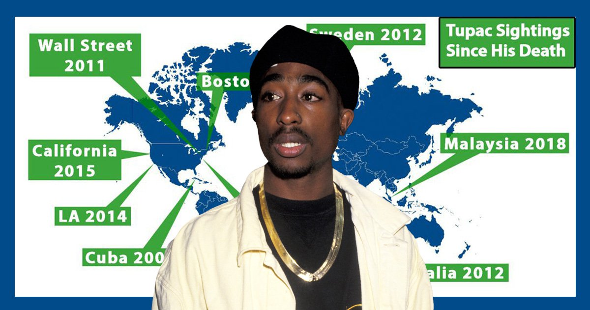 Tupac alive? Everywhere the late rapper has been 'spotted' as conspiracy theories resurface