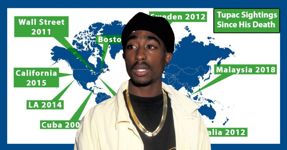 Tupac alive? Everywhere he has been 'spotted' as conspiracy