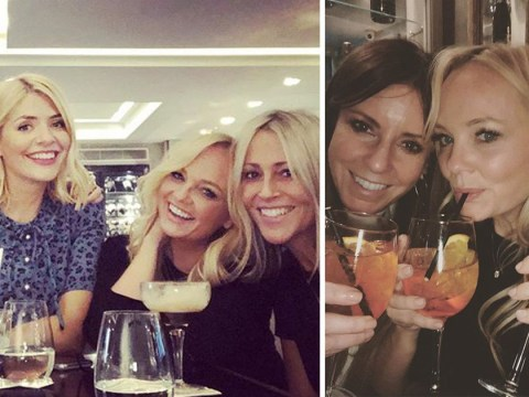 Holly Willoughby becomes a new Spice Girl on wine-filled night out with Emma Bunton