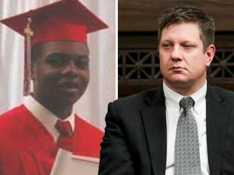 White policeman convicted of murder after shooting black teenager 16 times as he walked away
