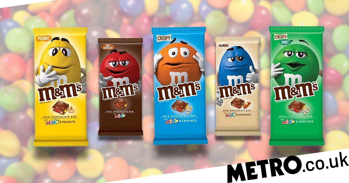 M M S Launches New Chocolate Bars That Come In Five Flavours Metro News