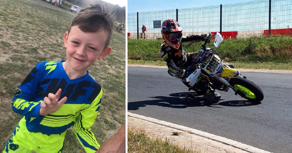 Boy, 7, fighting for life after head-on collision during motorbike display