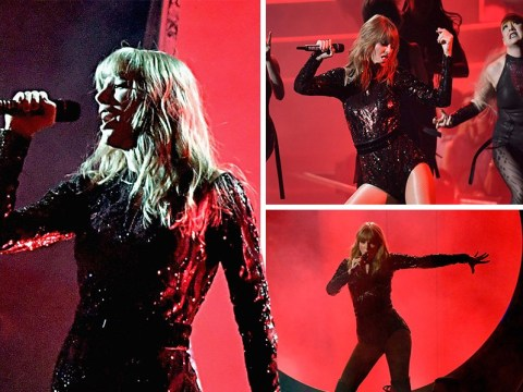 Taylor Swift opens the AMAs with her first awards performance in three years and she crushed it