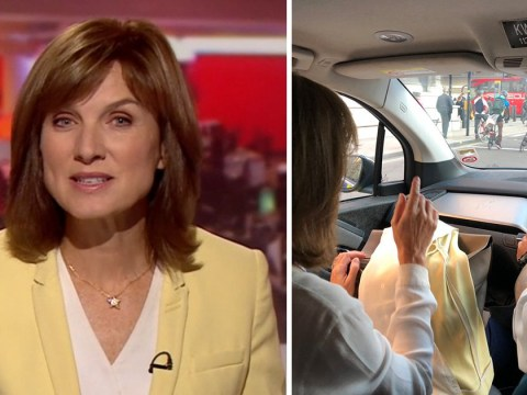 BBC's Fiona Bruce forced to flag down police car so she can make it to news studio