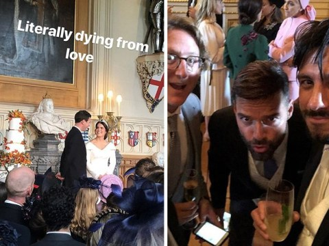 Ricky Martin, Demi Moore lead celebrities revealing inside look at Princess Eugenie and Jack Brooksbank's royal wedding