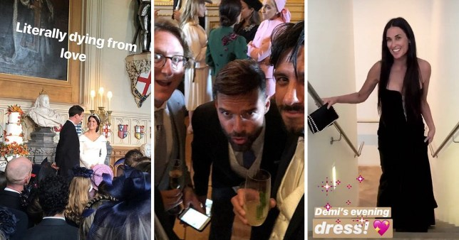 Celebrities At Royal Wedding.Ricky Martin And Demi Moore Lead Celebrities With Inside Look At