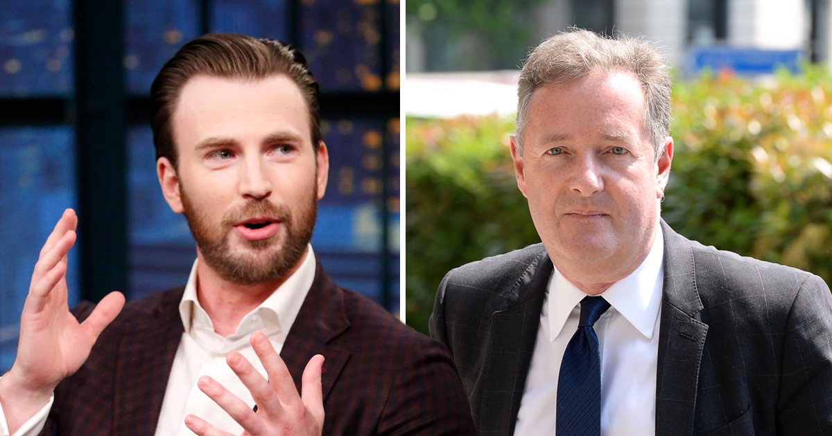 Chris Evans claims Piers Morgan is 'uncertain of his own masculinity' as Captain America takes on GMB