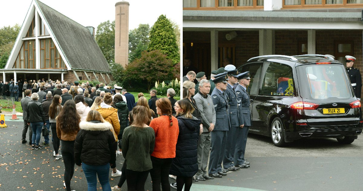 Hundreds turn up for 'emotional' funeral of army veteran with no surviving family