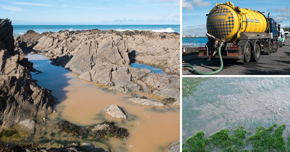 Surfers told to stay out of water after river of sewage spills into Cornish sea