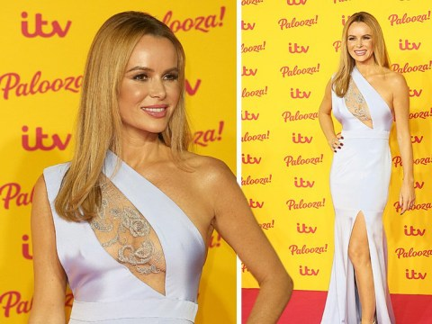 Amanda Holden leads the red carpet glamour as ITV's biggest stars party the night away