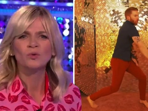 Zoe Ball is all of us as she spots Neil Jones' extremely tight red trousers on It Takes Two