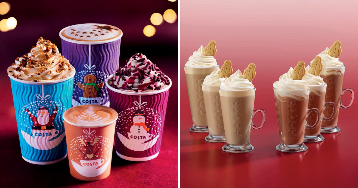 Costa launches new festive cups and Christmas menu
