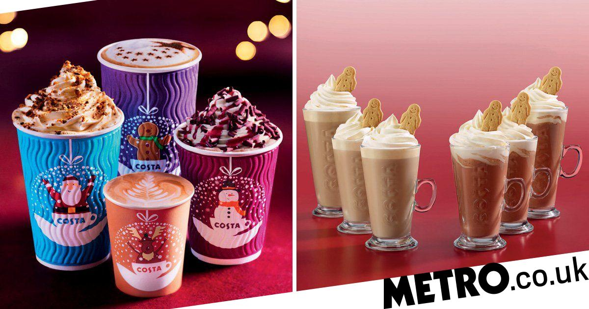 Costa Launches New Festive Cups And Christmas Menu Metro News