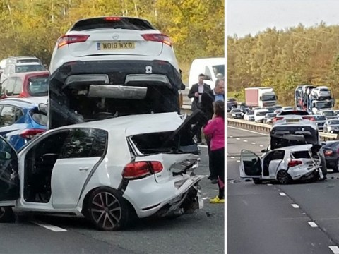 Cars pile up on M40 in third horror crash in three days
