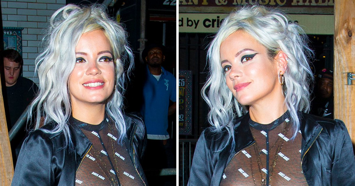 Lily Allen bares all again in daring see-through top after explosive autobiography and we're so here for it