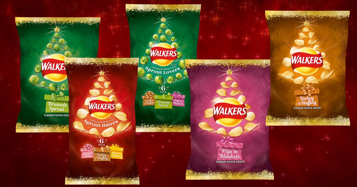 Walkers Christmas crisps