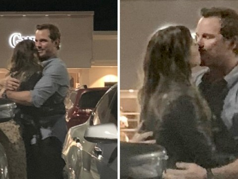 Chris Pratt smooches Katherine Schwarzenegger after dinner with her mum Maria Shriver