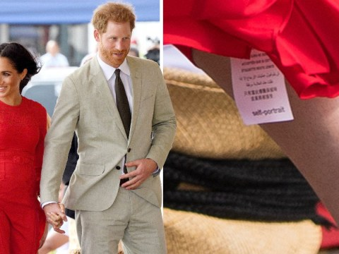 Dress fail for Meghan who leaves label showing on £345 frock
