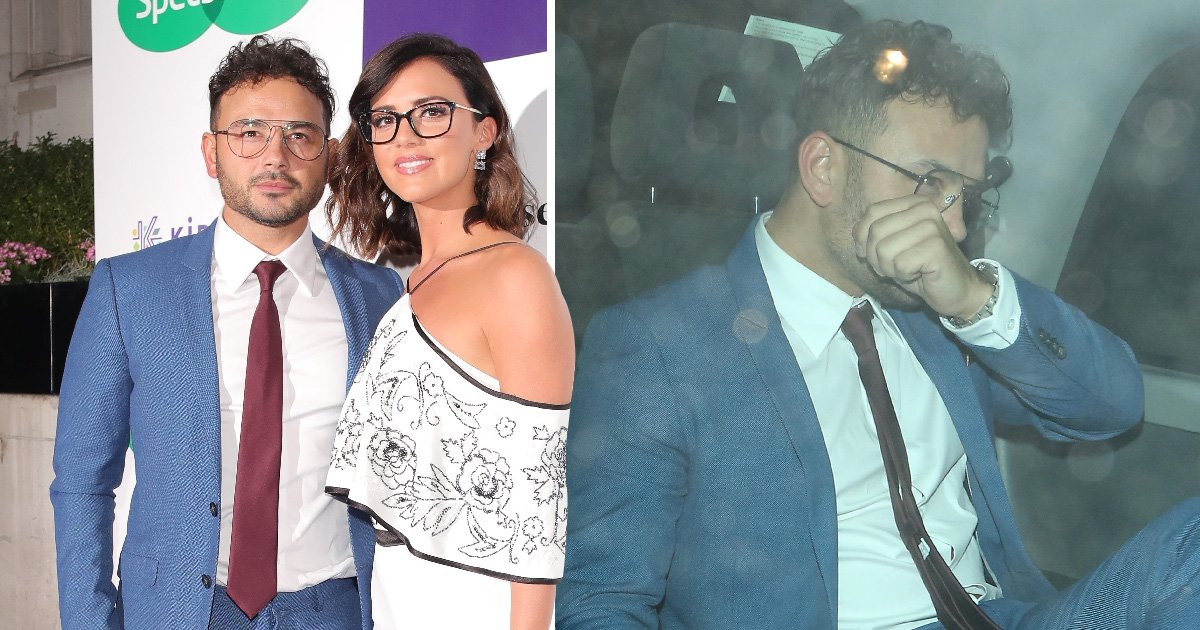 Ryan Thomas looks visibly upset as he leaves party without girlfriend Lucy Mecklenburgh