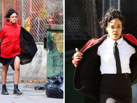 Tessa Thompson suits up in iconic Men In Black uniform for dramatic reboot scene