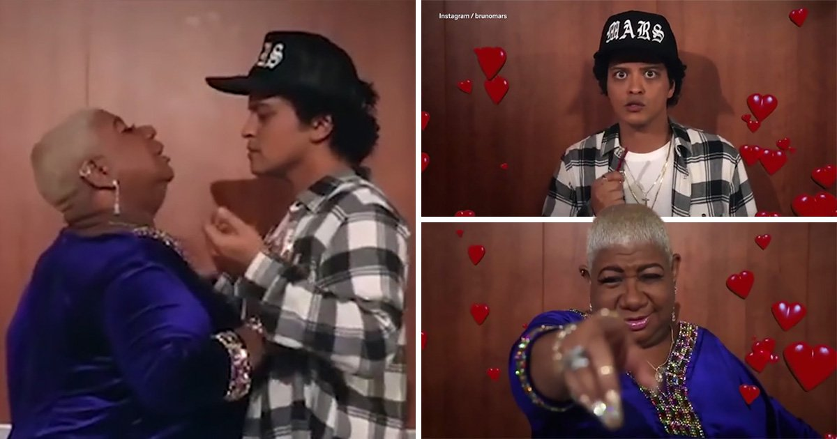 Bruno Mars gets steamy with superfan in hilarious backstage video