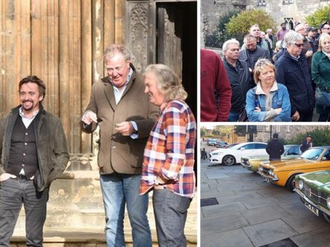 The Grand Tour fans queue for hours to catch Jeremy Clarkson and Richard Hammond filming season 3