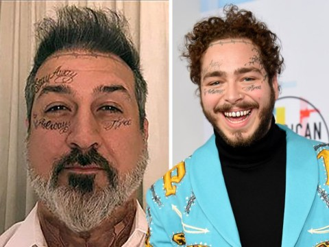 Joey Fatone joins Rita Ora in channeling Post Malone for Halloween