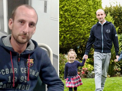 Dad had to learn to walk again after pneumonia left him paralysed