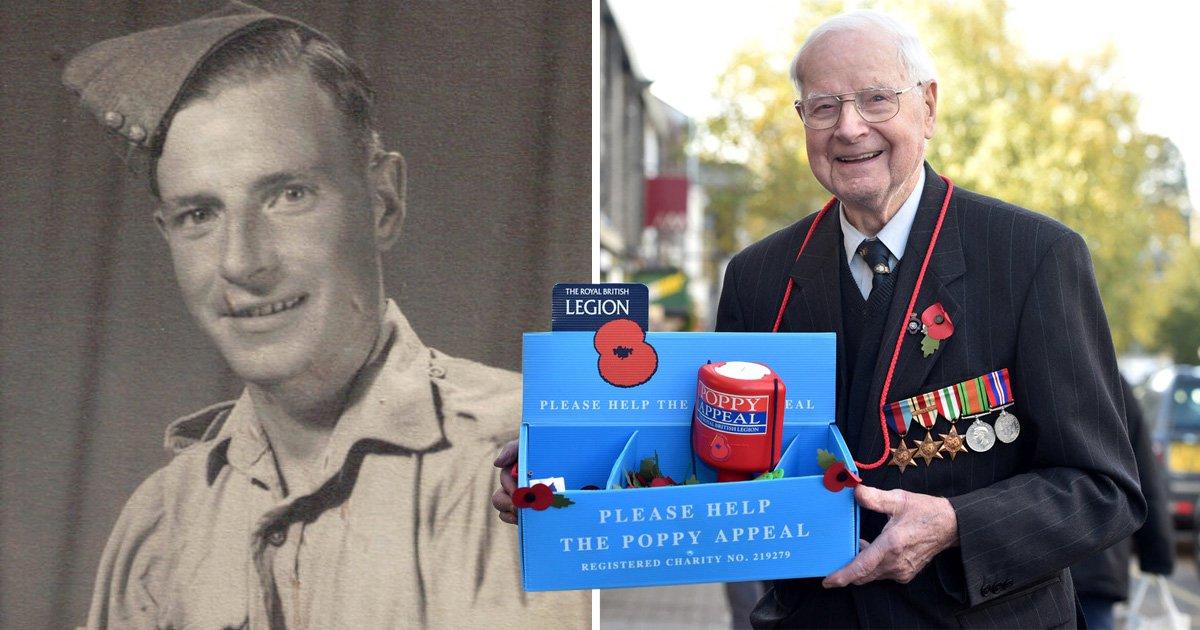 World War Two veteran, 103, named as Britain's oldest poppy seller