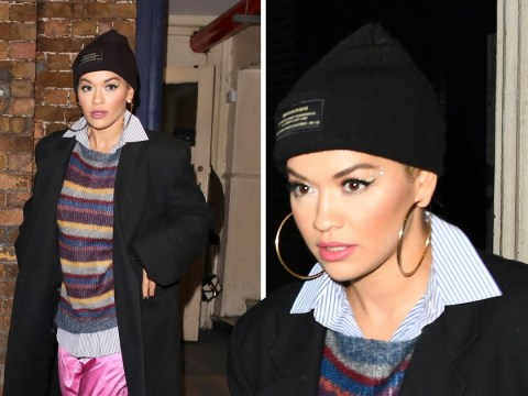 Rita Ora wraps up warm as she enjoys night out after being branded a 'diva' on Strictly