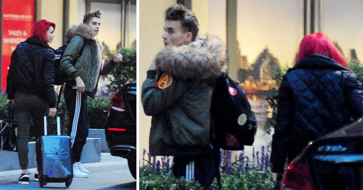 Strictly Come Dancing's Joe Sugg and Dianne Buswell pictured heading into his flat together amid romance rumours