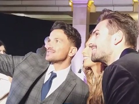 Peter Andre adorably fanboys over Love Island's Adam and Zara as they snap selfie with singer