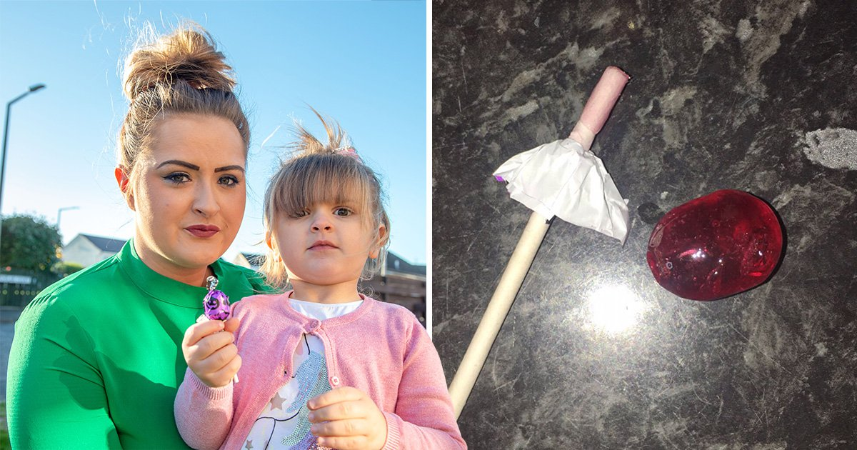 Mum calls for Halloween lollipop ban after daughter choked on a sweet