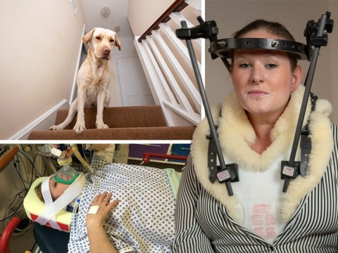 Mum broke her neck tripping over her dog and falling down the stairs
