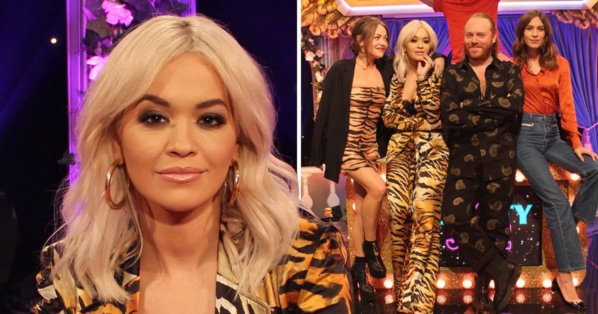 Rita Ora reveals mum is 'sick' of seeing her naked as she kisses Alexa Chung in Celeb Juice challenge