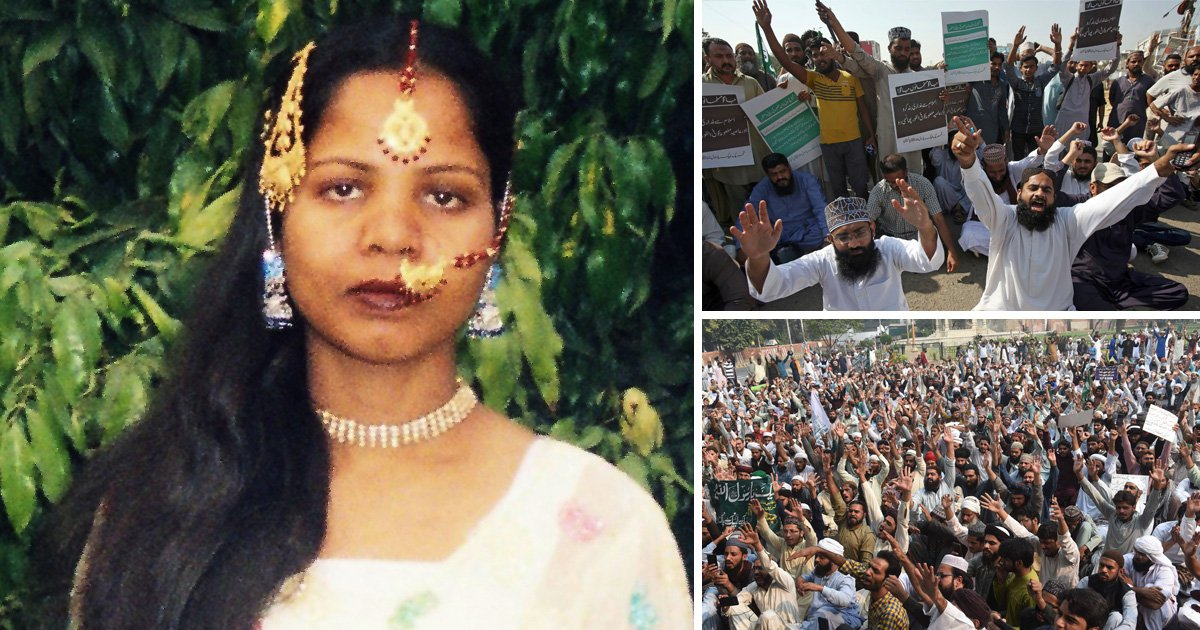 Christian woman's death sentence for blasphemy overturned in Pakistan