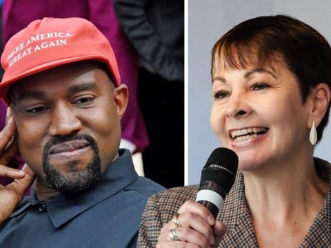 Kanye West follows Brighton MP Caroline Lucas for some reason