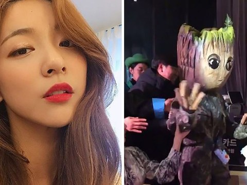 Luna from f(x) wins Halloween by dressing up as Groot at SMTOWN Wonderland