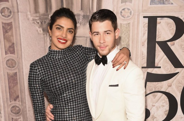 NEW YORK, NY - SEPTEMBER 07: Actress Priyanka Chopra and musician Nick Jonas attend the Ralph Lauren 50th Anniversary event during New York Fashion Week at Bethesda Terrace on September 7, 2018 in New York City. (Photo by Gary Gershoff/WireImage)