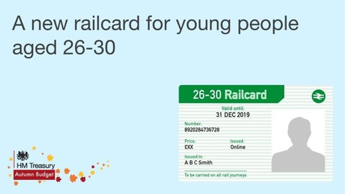 How to get a new 26-30 railcard when they're released