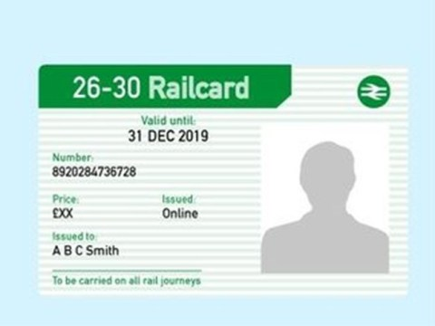 What is the discount on a 26-30 railcard and how to get one