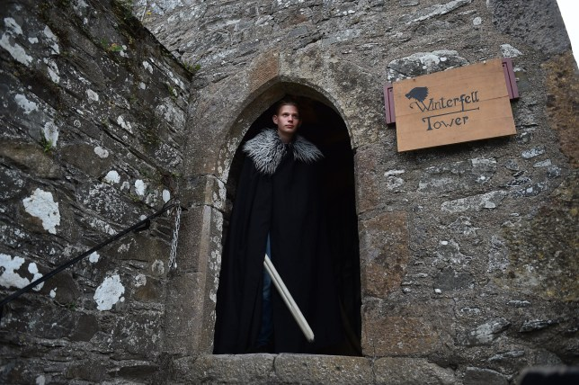 DOWNPATRICK, NORTHERN IRELAND - SEPTEMBER 16: A fan exits Winterfell Tower as the Game of Thrones Winterfell Festival takes place at Castleward on September 16, 2018 in Downpatrick, Northern Ireland. The HBO television series is largely filmed in the province with key scenes shot at the Castleward location which doubled as Winterfell. The series has also boosted the region's economy through tourism and a growing film production industry with the final season expected to air early next year. (Photo by Charles McQuillan/Getty Images)