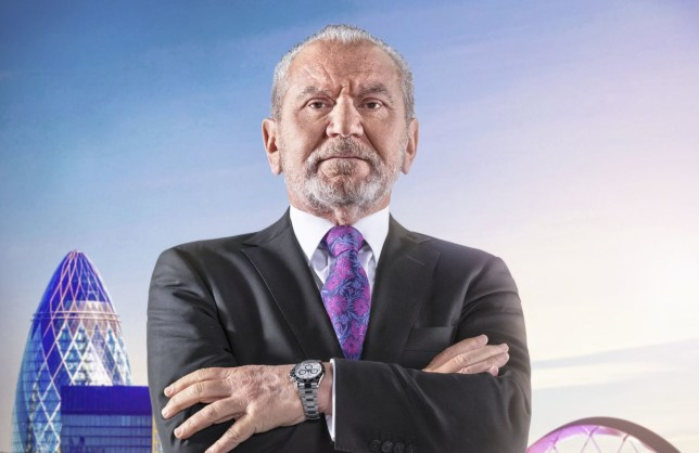 For use in UK, Ireland or Benelux countries only Undated BBC handout photo of Lord Sugar ahead of this year's BBC1 Television programme: The Apprentice. PRESS ASSOCIATION Photo. Issue date: Tuesday September 25, 2018. See PA story SHOWBIZ Apprentice. Photo credit should read: BBC/PA Wire NOTE TO EDITORS: Not for use more than 21 days after issue. You may use this picture without charge only for the purpose of publicising or reporting on current BBC programming, personnel or other BBC output or activity within 21 days of issue. Any use after that time MUST be cleared through BBC Picture Publicity. Please credit the image to the BBC and any named photographer or independent programme maker, as described in the caption.