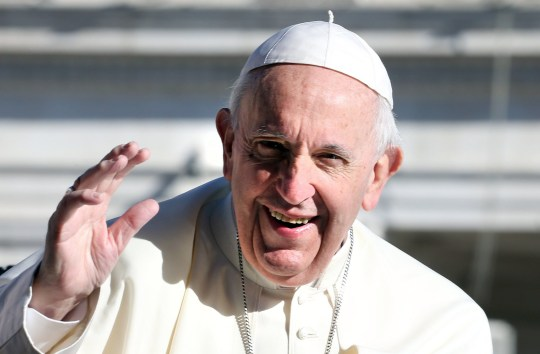 VATICAN CITY, VATICAN - SEPTEMBER 26: Pope Francis waves to the faithful as he arrives in St, Peter's square for his weekly audience on September 26, 2018 in Vatican City, Vatican. In a 'Message to Catholics of China and to the Universal Church,' Pope Francis explains the reasons for signing the Provisional Agreement with the People??s Republic of China: to promote the proclamation of the Gospel, and to establish unity in the Catholic community in China. (Photo by Franco Origlia/Getty Images)