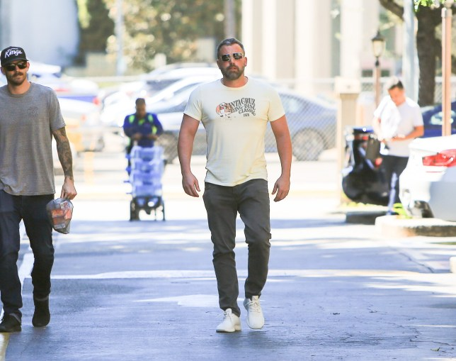 Ben Affleck out and about looking buff. 01 Oct 2018 Pictured: Ben Affleck. Photo credit: BG004/Bauergriffin.com / MEGA TheMegaAgency.com +1 888 505 6342