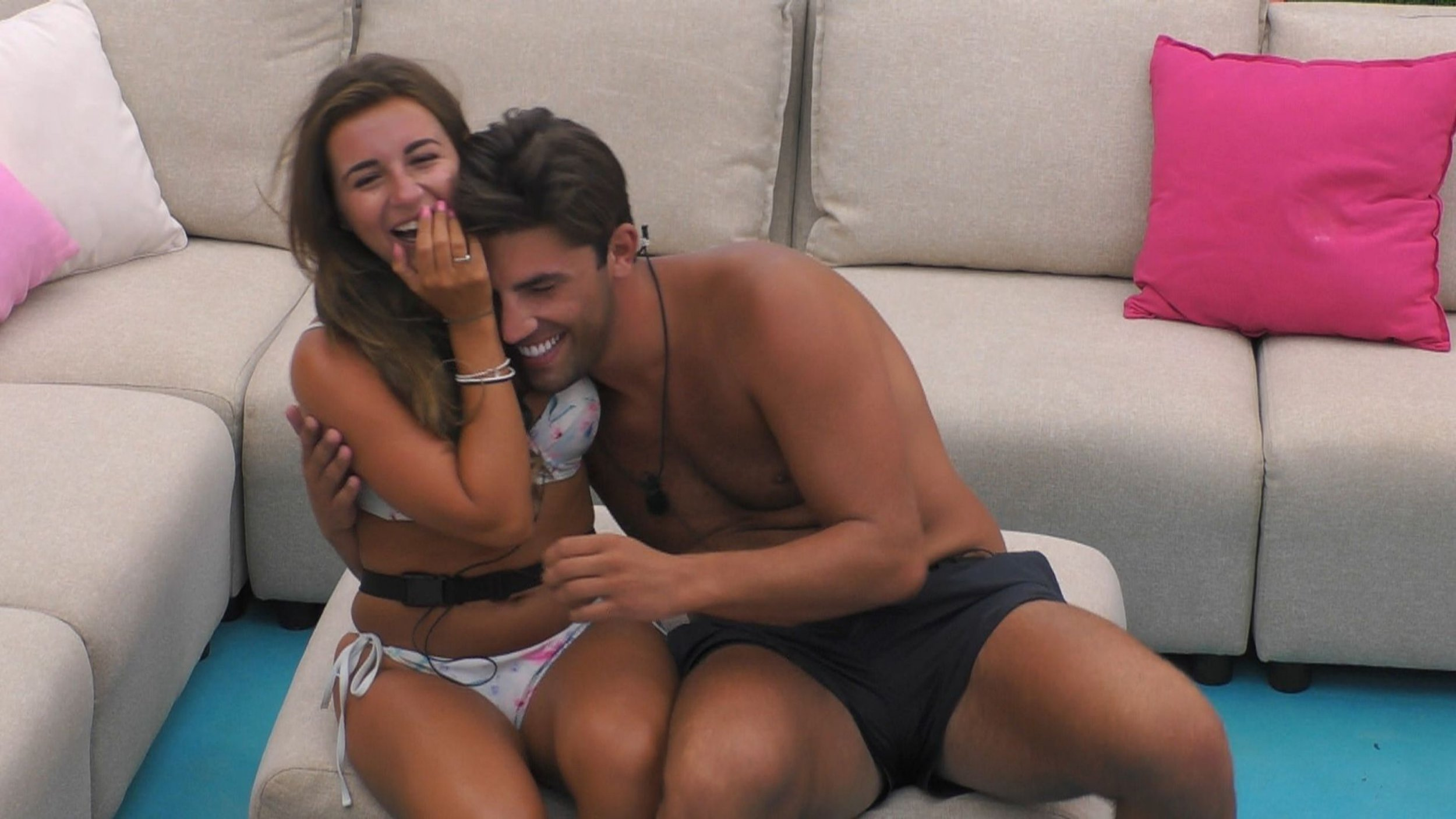 Editorial use only Mandatory Credit: Photo by ITV/REX/Shutterstock (9773447ab) Jack Fincham reacts to Dani Dyer's parents 'Love Island' TV Show, Series 4, Episode 56, Majorca, Spain - 29 Jul 2018 It's Friends and Family time! Danny Dyer gives his verdict on Jack. Alexandra's mum has her say on Alex. Laura drops a wedding faux pas