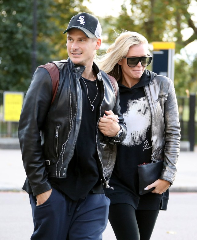 Strictly's Lee Ryan holds hands with dance partner Nadiya Bychkova again as they take a break from rehearsals