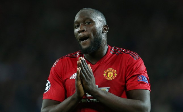 Mandatory Credit: Photo by Matt West/BPI/REX (9911408af) Romelu Lukaku of Manchester United gestures to pray Manchester United v Valencia, UEFA Champions League, Group H, Football, Old Trafford, Manchester, UK - 02 Oct 2018