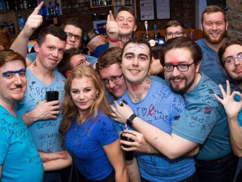 Tory students wear 'f**k the NHS' T-shirt and Hitler tache on uni night out