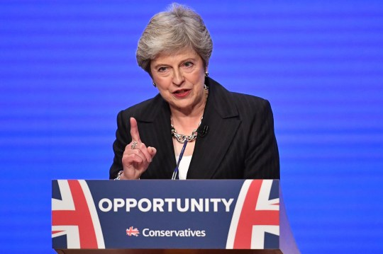 ?? Licensed to London News Pictures. 03/10/2018. Birmingham, UK. British Prime Minister THERESA MAY delivers her Leaders speech on the fourth and final day of the 2018 Conservative Party conference at the ICC in Birmingham. This years event is focused heavily on Brexit and negotiations with the EU over the UK's exit form the European Union. Photo credit: Ben Cawthra/LNP